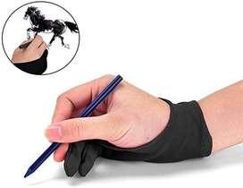 Guante para dibujo, 2 dedos!