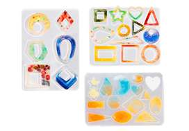 Kit de moldes de silicona para resina para hacer pendientes con 10 estilos de pendientes, joyería para hacer joyas