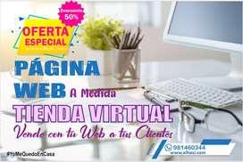 CREAMOS TIENDA VIRTUAL (Página web)