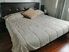 Vendo colchón y somier con cabezera 2 x 2 king