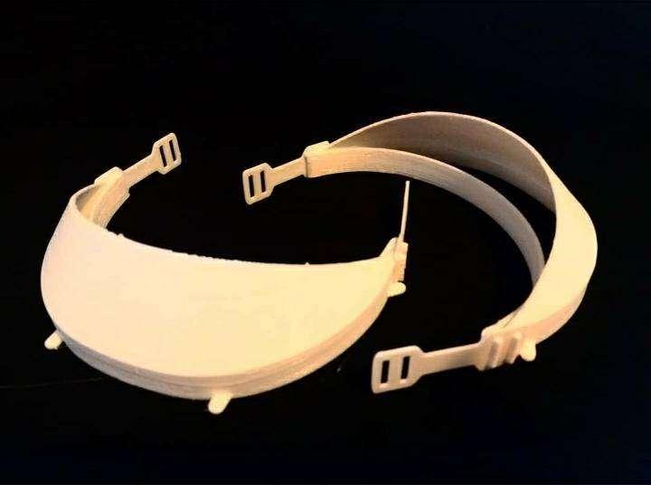 Protector Facial Reutilizable con 2 Pantallas de Acetato x10u 0