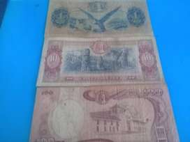 Billetes colombianos y venezolanos antiguos y libro de Gabriel Garcia Marquez, 1era edicion . 12 Cuentos Peregrinos