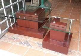 dos mesas de centro usadas en perfecto estado