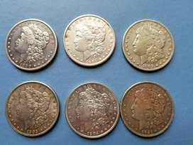 Colección Monedas Morgan Dolar De Plata Siglo Xx