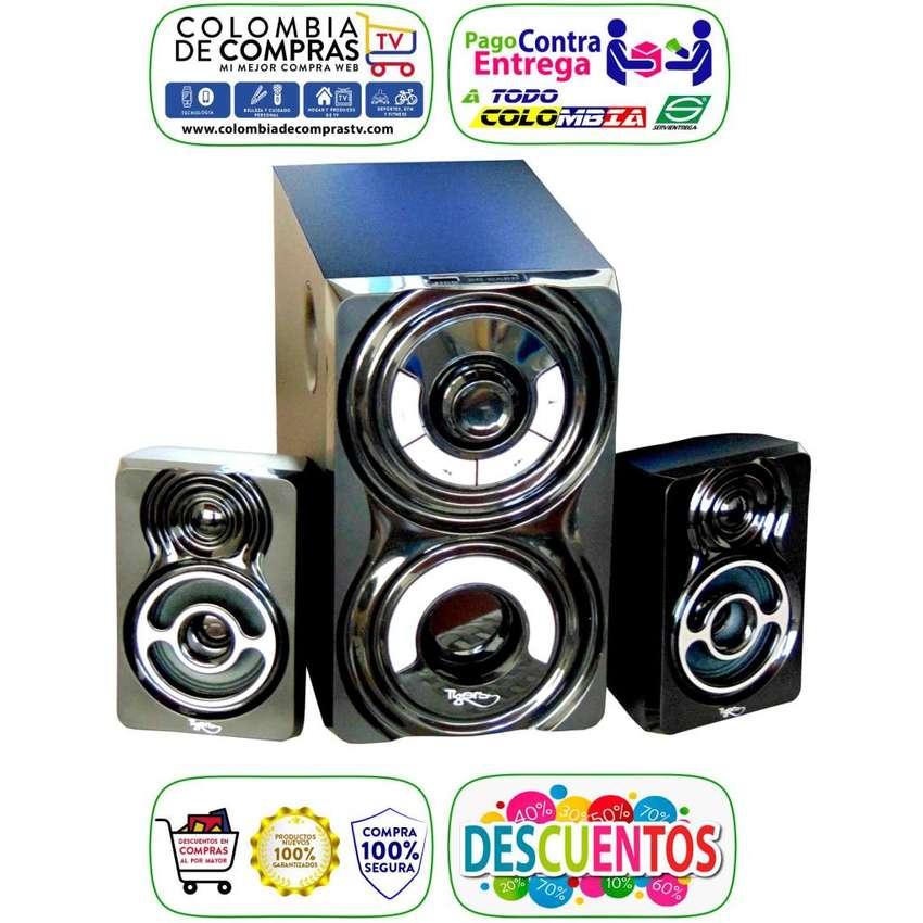 Teatro En Casa Bluetooth 2.1 Tigers Woofer 18w, Fm USB MP3, Nuevos, Originales, Garantizados. 0
