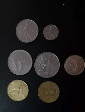 Vendo 7 monedas o cambio por billetes antiguos