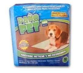 Paño Pet Mini Alfombra Sanitaria Desechable Para Perros X 10