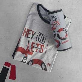 Camiseta Ramones Hey Ho Let's Go - Camisetas Bandas Rock