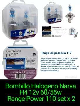 Bombillos Narva H4 110% más luz
