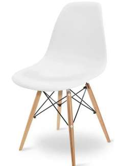 Remato silla blanca patas de madera