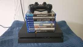 Play Station 4 con 12 juegos
