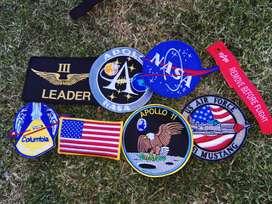 Kit Parches NASA y ALPHA mas llavero