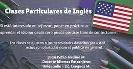 Docente oferta clases particulares de inglés al publico en general.