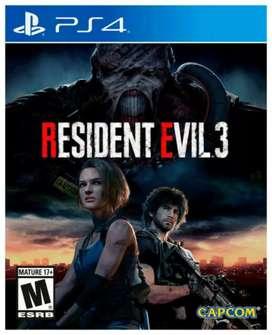 Juego PS4 RESIDENT EVIL 3 nuevo!