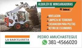 ALQUILER DE MINICARGADORAS