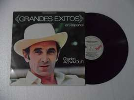 harles Aznavour – Grandes Exitos En Español. Lp. Vinilo.