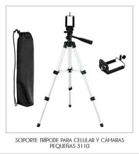 TRÍPODE PARA CELULAR Y CÁMARAS PEQUEÑAS 3110 (INCLUYE HOLDER)