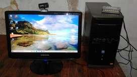Pc Completa 2.7ghz, 4gb Mem, + Monitor 19 + 512 Video Hdmi