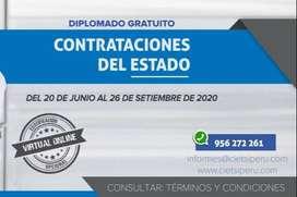 DIPLOMADO GRATUITO DE ESPECIALIZACIÓN EN CONTRATACIONES DEL ESTADO 2020 (VIRTUAL ONLINE)