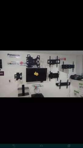 Se instalan bases de brazo para televisores