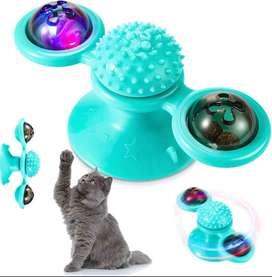 Juguete Gato Interactivo Molino De Viento Con Catnip Y Luz