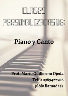 Clases de Piano y Canto
