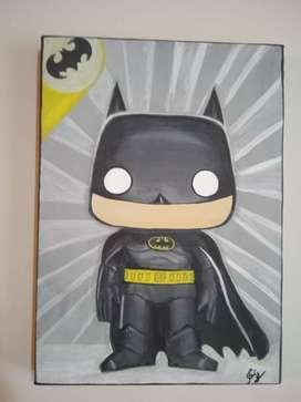 Cuadro de Batman, la situeta de Batman brilla en la oscuridad