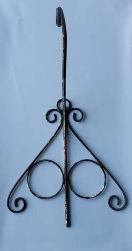 Soporte de hierro forjado maceta o farol 40 x 27 x 27