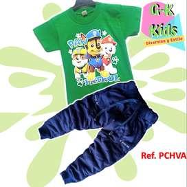 Sudadera y Camisa Para Niño Diseños Paw Patrol