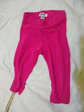 Calza d k ny 18 m importado rosa fuerte con 2 botones en el dobladillo