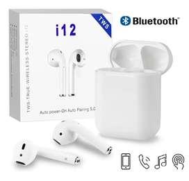 Audífonos Bluetooth inalámbrico inpods 12 manos libre blancos