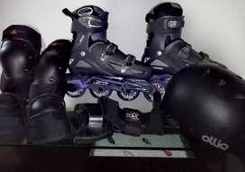Patines Roller Derby Y Set de Protección