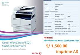 Copiadora Xerox WorkCentre 5024, fotocopia en A3