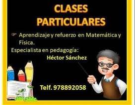 Clases particulares de fisica, matematica y demas areas