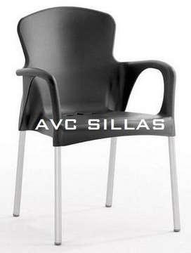 Silla Eva Con Brazos para Restaurante Bar Cafeteria Negocio Comercio Diseño Moderno