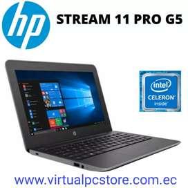 PORTATIL HP STREAM 11 Pro G5 CELERON Dual-Core N4000 1.1GHz 128GB SSD 4GB 11.6