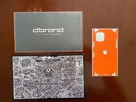 iPhone 11 Pro Sticker Protector Naranja (único modelo y color )