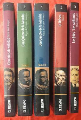 Coleccion Biblioteca El Tiempo 5 Tomos