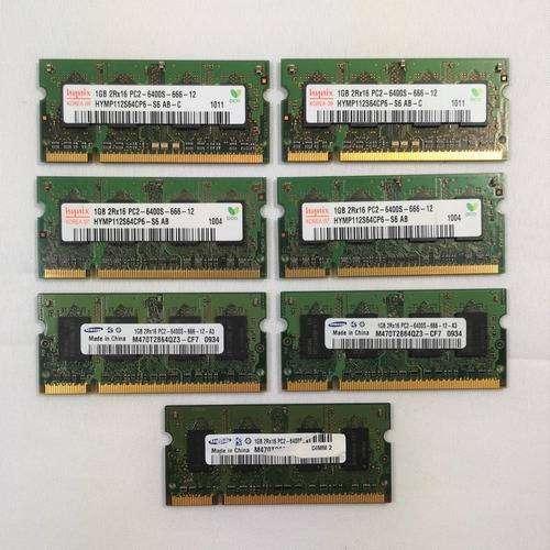 LOTE DE 10 MEMORIAS DDR2 1G PORTATILES