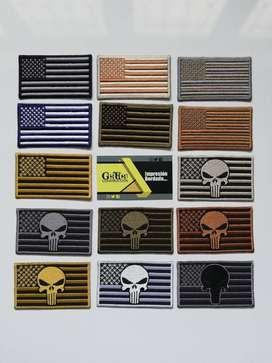 Banderas Tacticas EEUU (Con o sin Velcro)