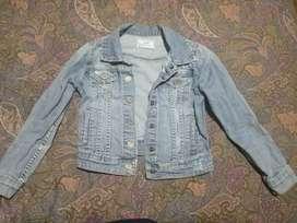 Chaqueta jean estilo desgastado talla 8