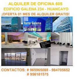 ALQUILER DE LOCAL COMERCIAL - TORRE GALENA 234 HUANCAYO - PROMOCION 1 MES GRATIS
