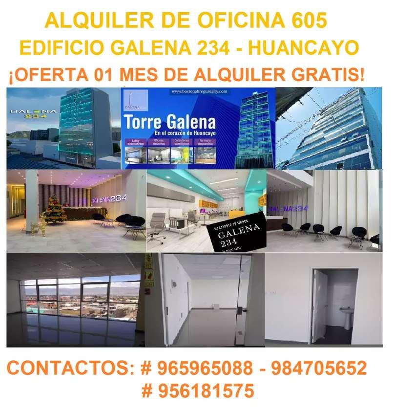ALQUILER DE LOCAL COMERCIAL - TORRE GALENA 234 HUANCAYO - PROMOCION 1 MES GRATIS 0