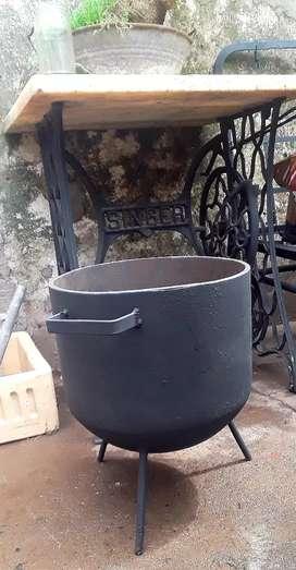 Ollas cocinar a leña de 15 litros 1 cm de espesor