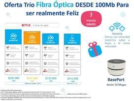 Servicio de fibra optica movistar en su hogar