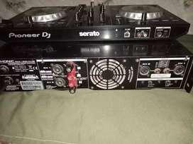Vendo 2 potencia PHONIC una de 200 y la otra de 150 un controlador PIONEER DJ SERATO y un acualisador