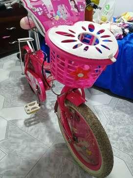 Bicicleta para niña mediana
