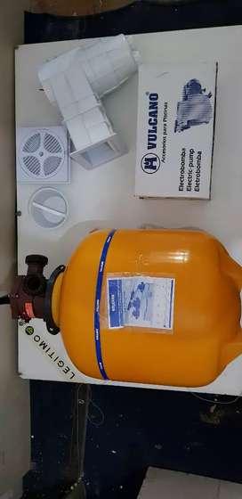 Filtros y bomba para piletas de hormigón