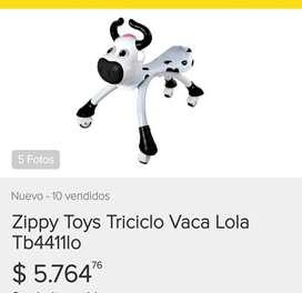 Triciclo vaca ROSA