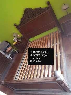 Cama+mesa de luz+ cómoda con espejo